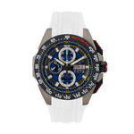 G5 Delta - Black-White Automatic Titanium Swiss Sport Chrono Watch