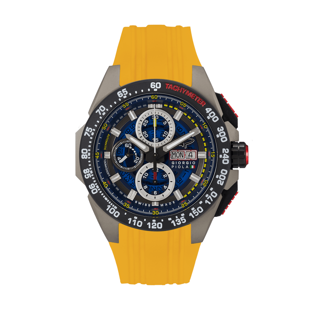 G5 Delta - Black-Yellow Automatic Titanium Swiss Sport Chrono Watch