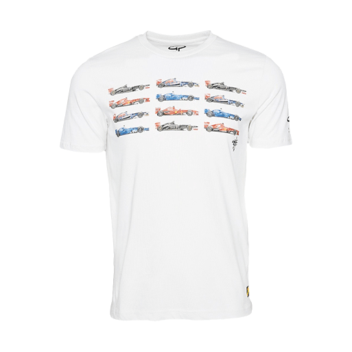 Giorgio Piola Grid T-Shirt - Limited Edition White