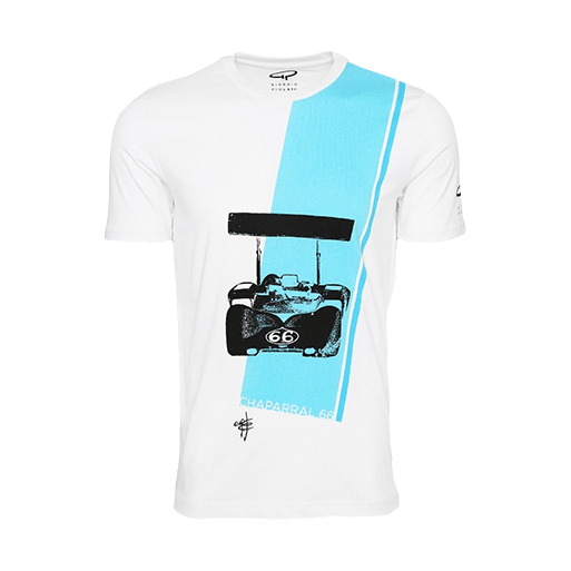 Giorgio Piola T-Shirt – Chaparral 66 Strip White