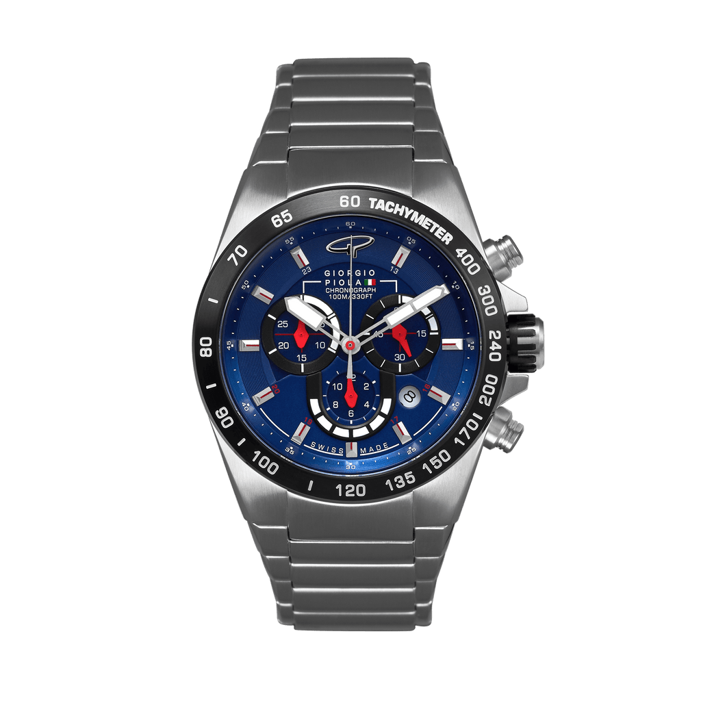 Ignition Swiss Made - Silver-Blue Watch