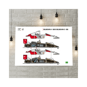 Mclaren MP4/4 vs MP4/5 F1 Art Print
