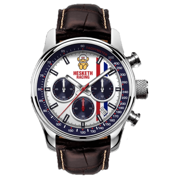 Official Hesketh Chrome Swiss Chronograph Watch