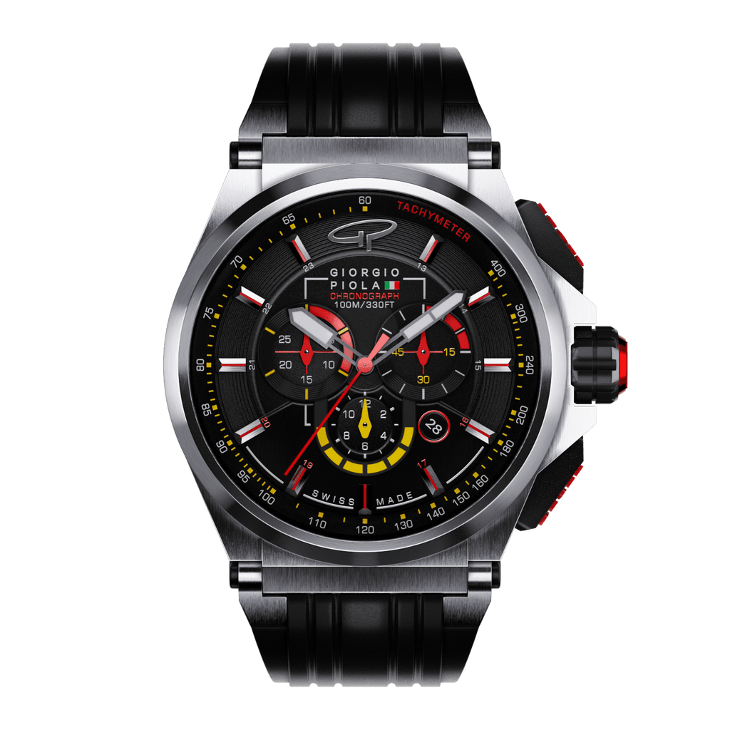 Strat-3 - Black Titanium Swiss Sport Chrono Watch