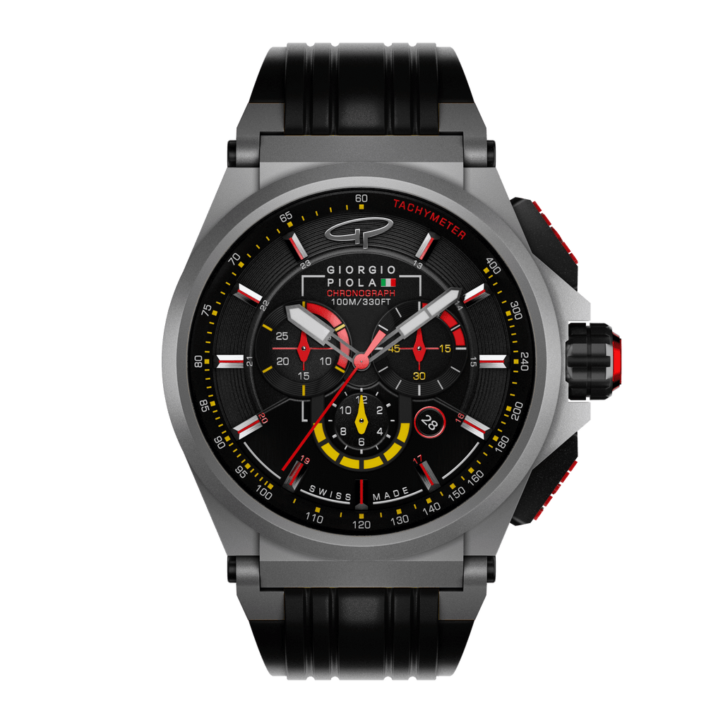 Strat-3 - Black Titanium Swiss Sport Chrono Watch (LTD)