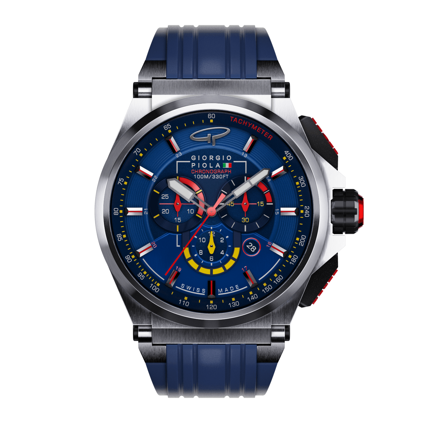 Strat-3 - Blue Titanium Swiss Sport Chronograph Watch