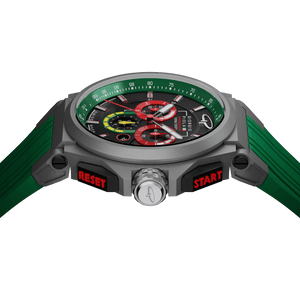 Strat-3 - Green Titanium Swiss Sport Chrono Watch