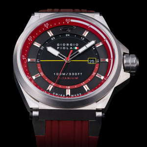 Strat-3 HMS - Red Swiss Titanium Sport Watch
