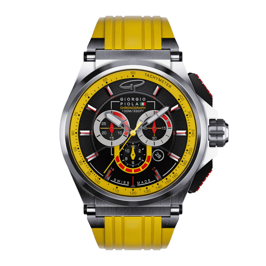 Strat-3 - Yellow Titanium Swiss Sport Chrono Watch