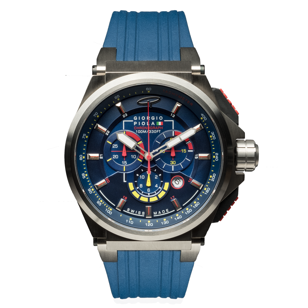 Strat-3 - Blue Titanium Sport Chrono Watch (LTD)