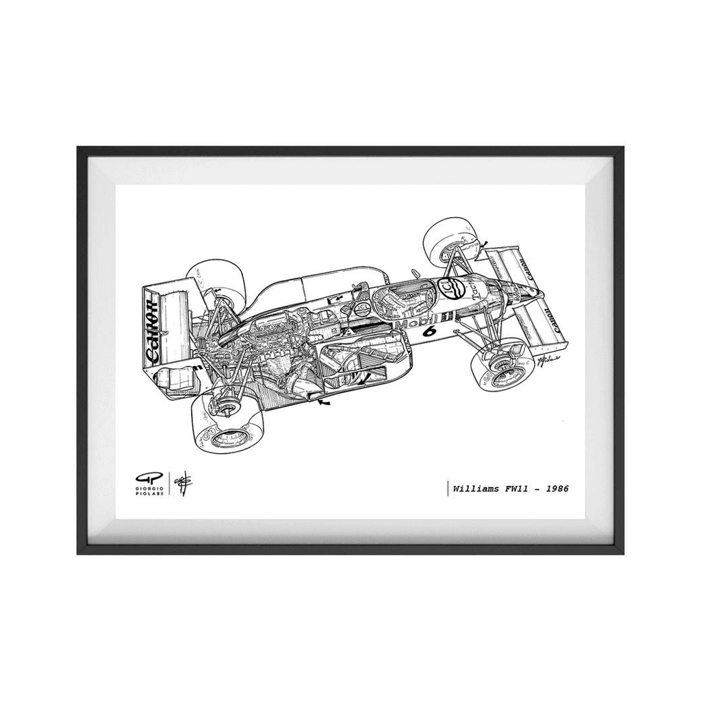 Williams FW11 1986 F1 Art Print