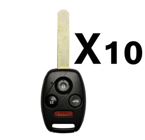(10 PACK) 2003-2007 HONDA ACCORD REMOTE HEAD KEY 4B