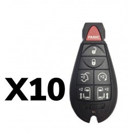 (10 PACK) CHRYSLER DODGE VW FOBIK REMOTE KEY 7B