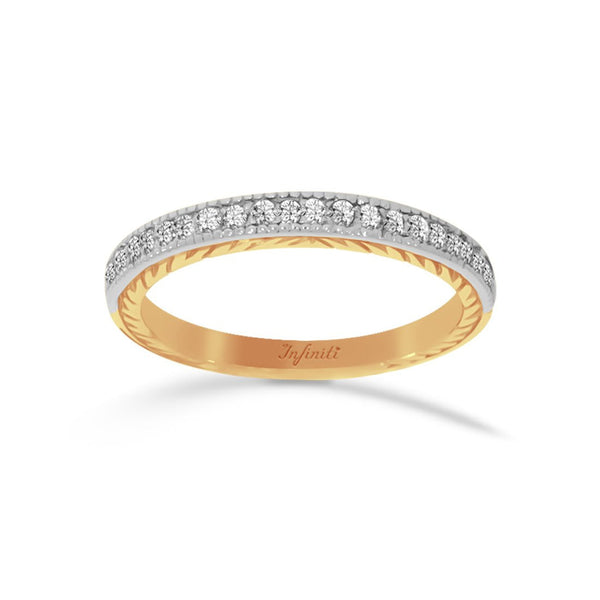Churumbela Oro 14k, 21 puntos de Diamante Natural