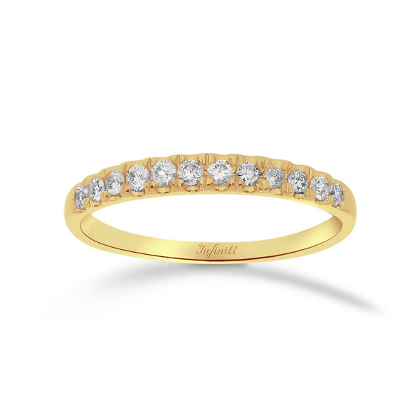 Churumbela Oro 14k, Diamantes Naturales de 15 Puntos Totales