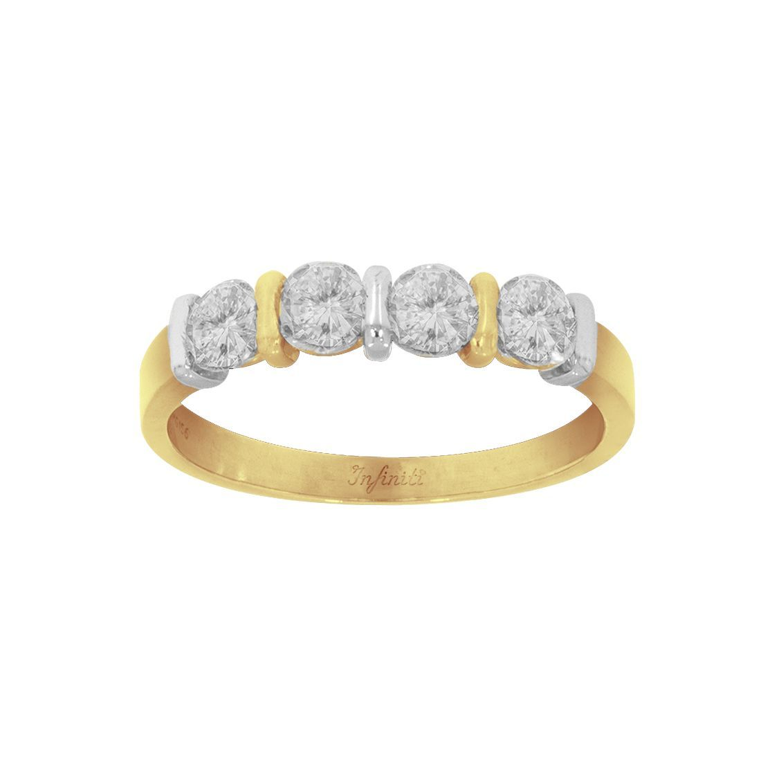 Churumbela Oro 14k, con Zirconias 4 mm