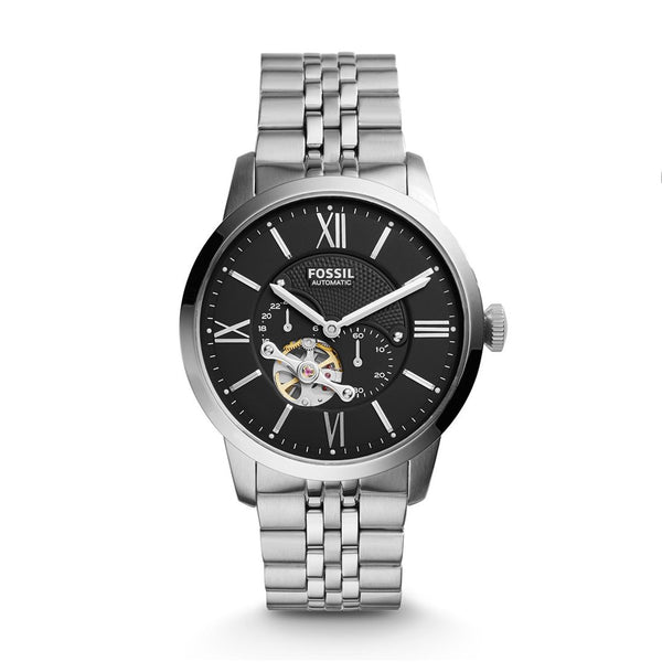 Fossil Townsman Black Dial Automatic Men's Watch ME3107 - Infiniti Joyas