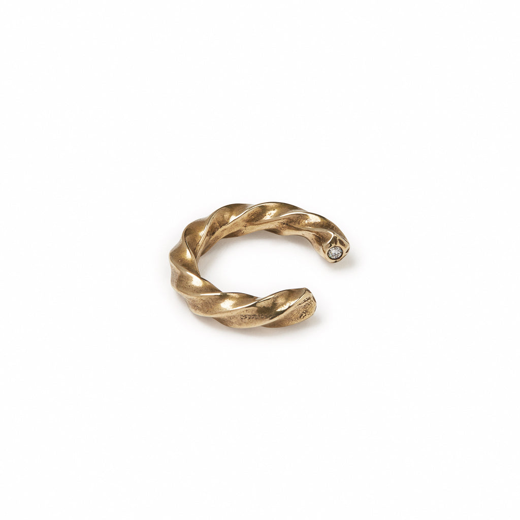 Two Stone Twist Ring