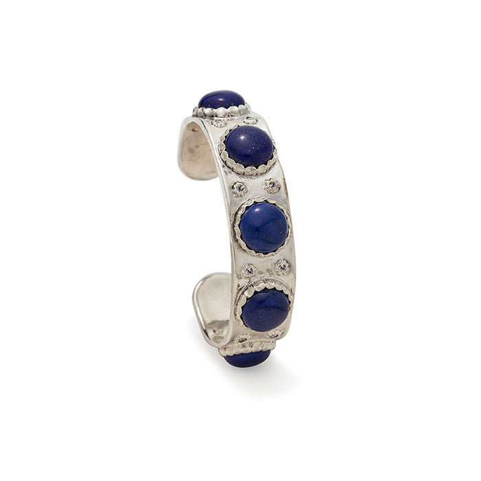 Sterling Silver Lapis Cab Cuff