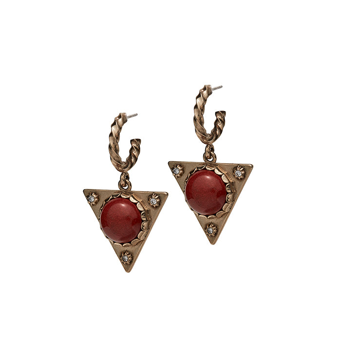 Cab Triangle Earrings