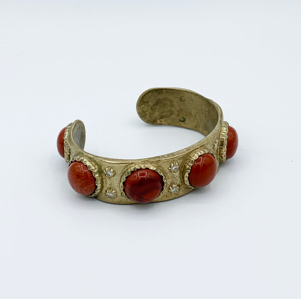 Bronze with Jasper Cab Cuff
