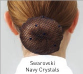 Navy Swarovski Crystals Hairnet