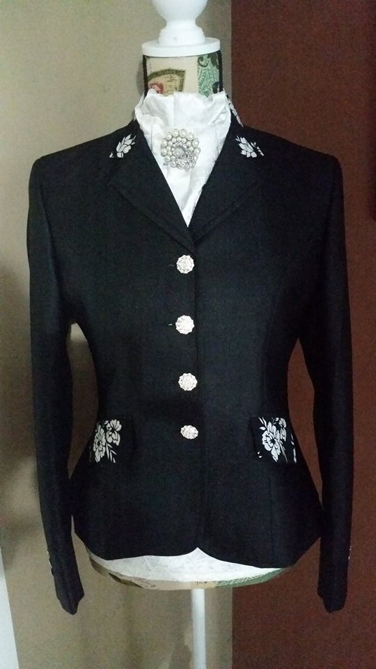 Jessica Jacket With floral Features/Swarovski Buttons