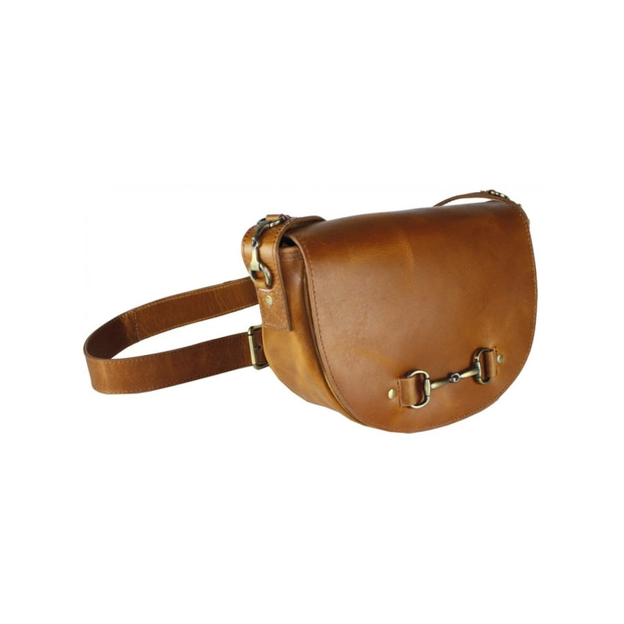Haston Bag in Tan Leather and Suede