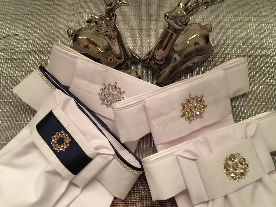 Royal Exclusive Stocktie with Swarovski Neckline
