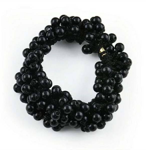 Pearl Hair Scrunchie available in Pearl or Black Colour