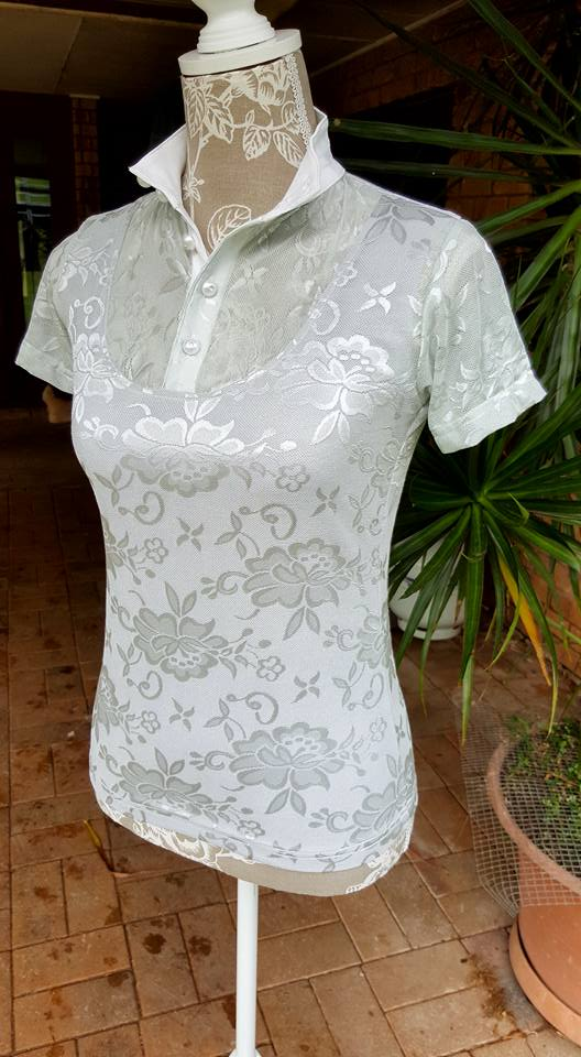 Light Grey Lace Baroque Competition Shirt