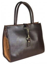 Alice Bag Brown Suede and Leather