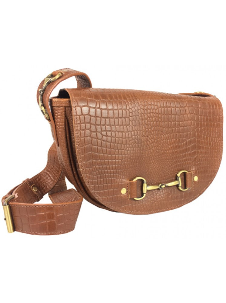 Haston Bag in Croc Print Leather