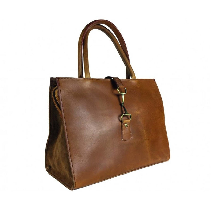 Tan Suede and Leather Alice Bag