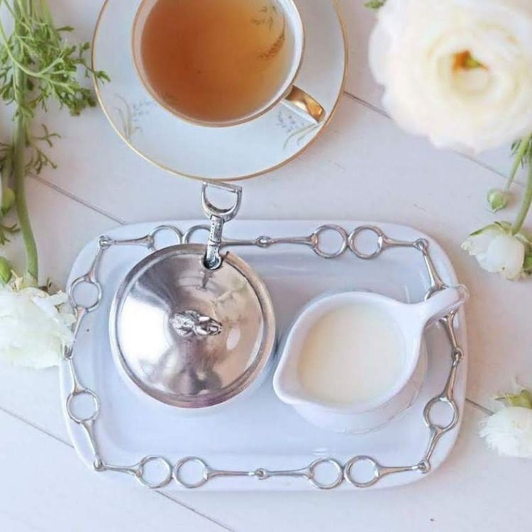 Equestrian Sugar and Creamer set 5 Piece
