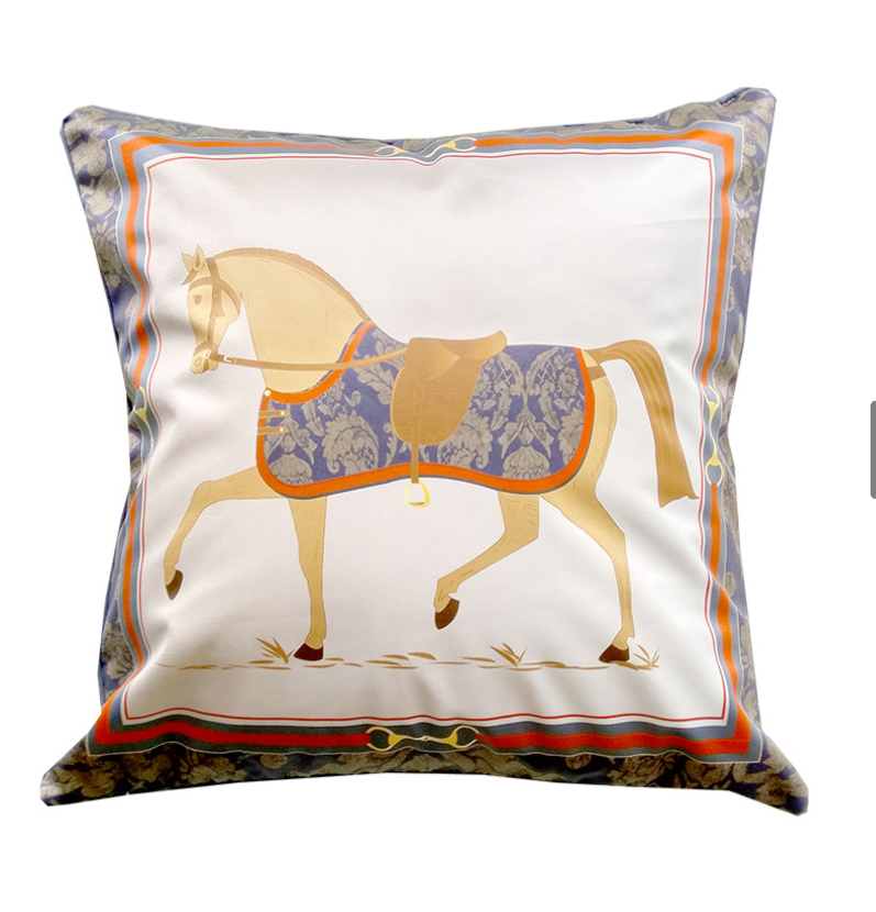 Quality Satin Baroque Horse Cushion