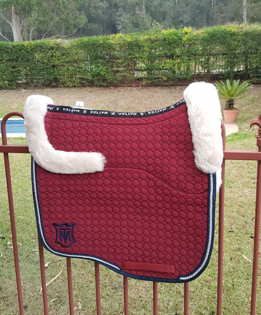 Mattes Large Burgundy Quilt Saddlepad