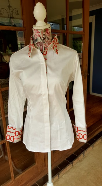 NEW LIMITED EDITION Casual Dress shirt with Red Snaffle bit trim