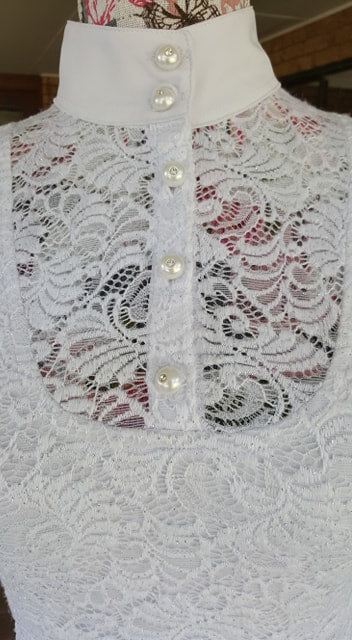 LIMITED EDITION Baroque White Lace Glitter Shirt