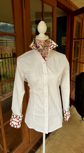 NEW LIMITED EDITION Casual Dress Shirt with Burgundy Bit Trim