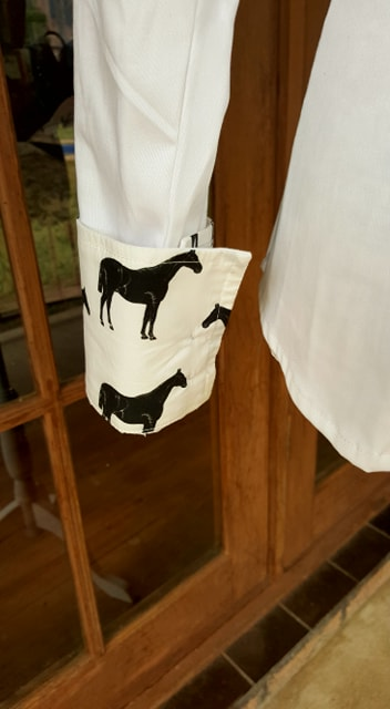 LIMITED EDITION Casual Dress Shirts with Horse Print Trim