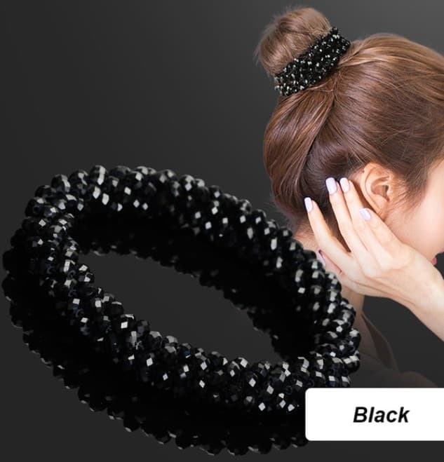 Glamour Hair Scrunchie black