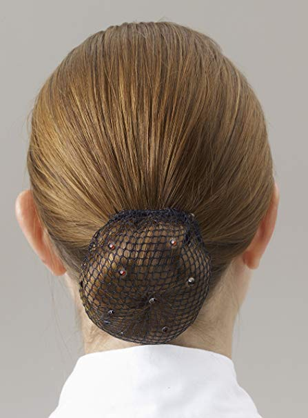 Hairnet with Black Swarovski Crystals