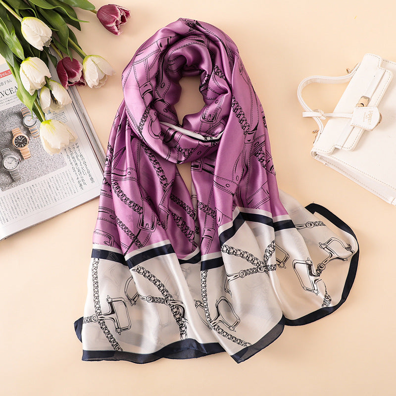 100% Silk Design Scarf available in two Colours
