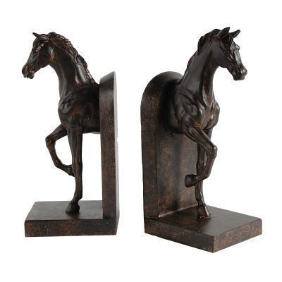 Equestrian Antique Brown Horse  Bookends