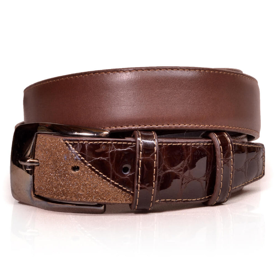 Deniro Belt Stardust Brown Lucido