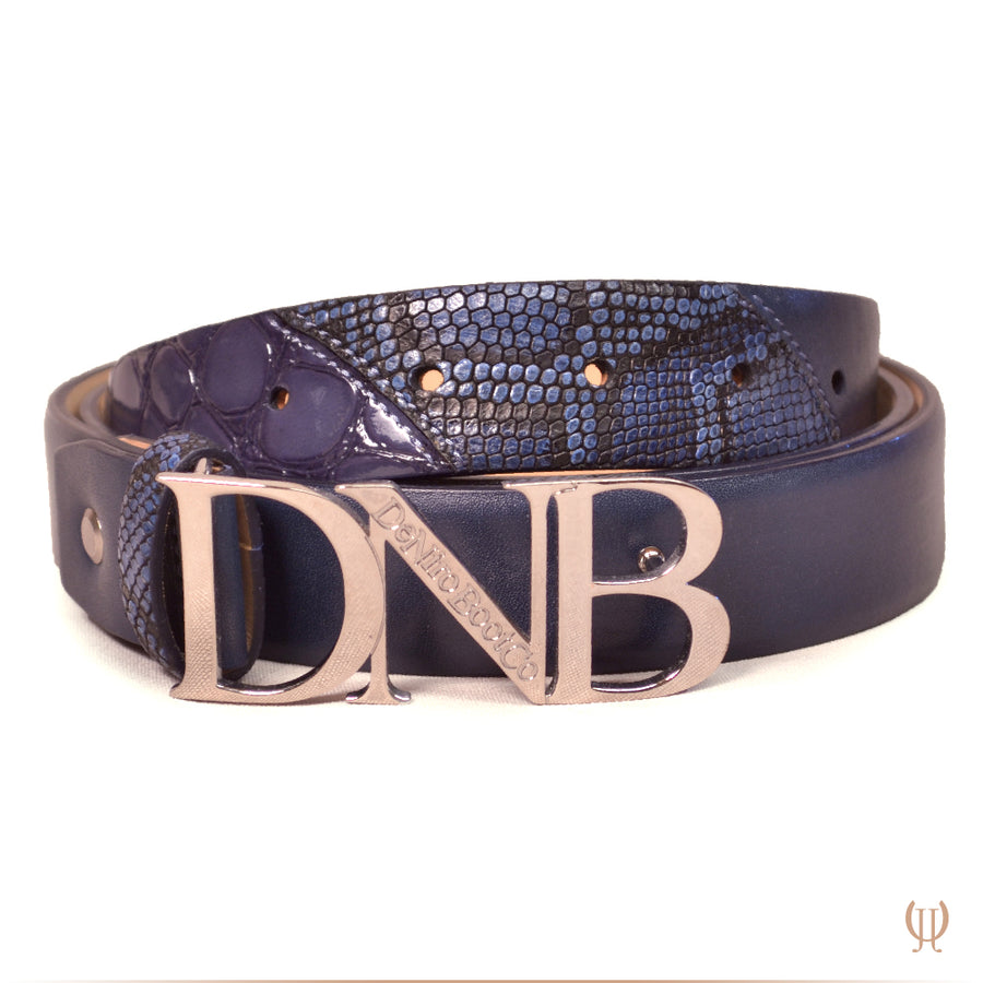 Deniro DNB Buckle Belt Bulgari Blue