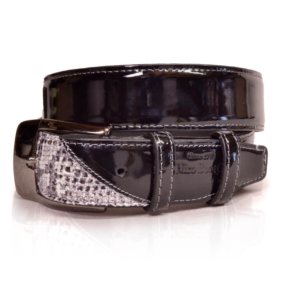 Deniro Belt Roccia Black Patent