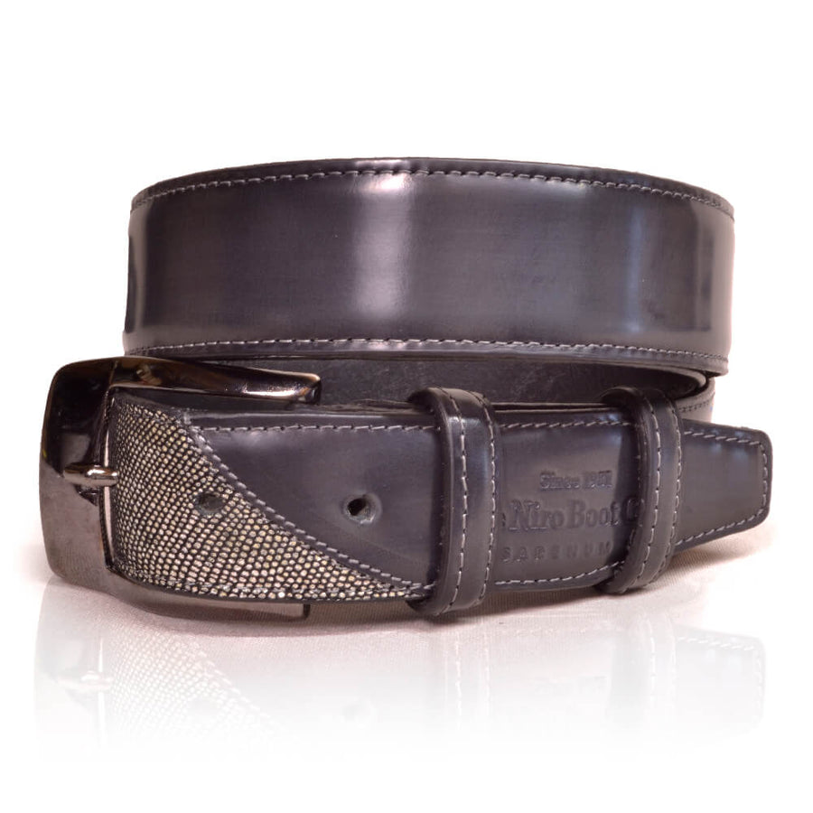 Deniro Belt Brushed Grey Venezia