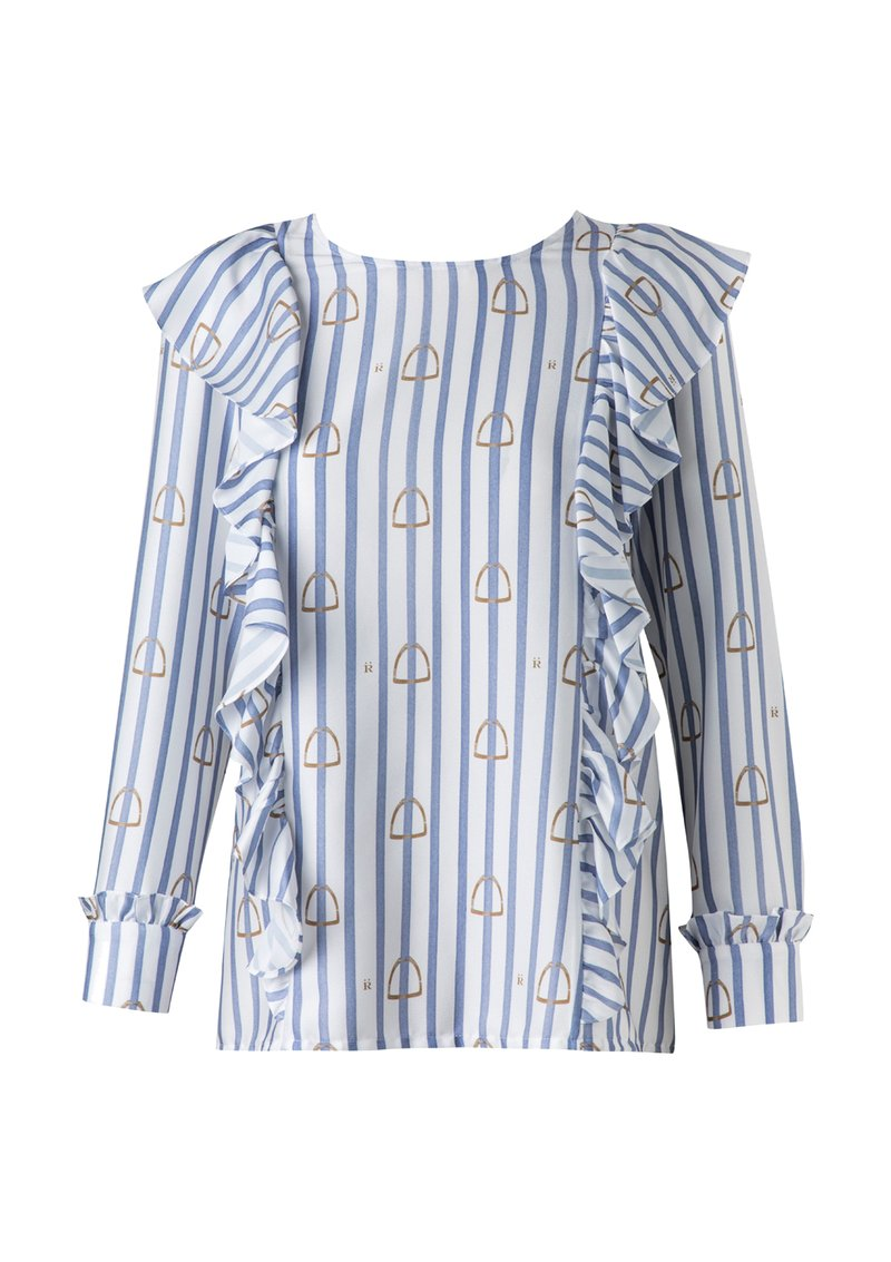 Ronner Waves Blouse Stripes and Stirrups